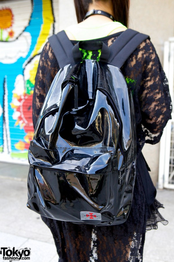 Life Spirit vinyl backpack
