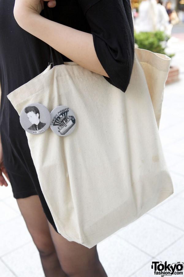 Canvas bag w/ buttons