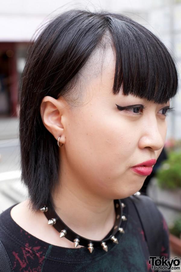 Harajuku Girls's partially shaved hair