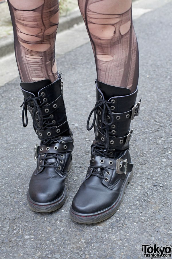 Demonia boots w/ buckles