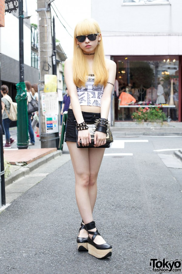 Blonde Harajuku Girl in H&M and Topshop