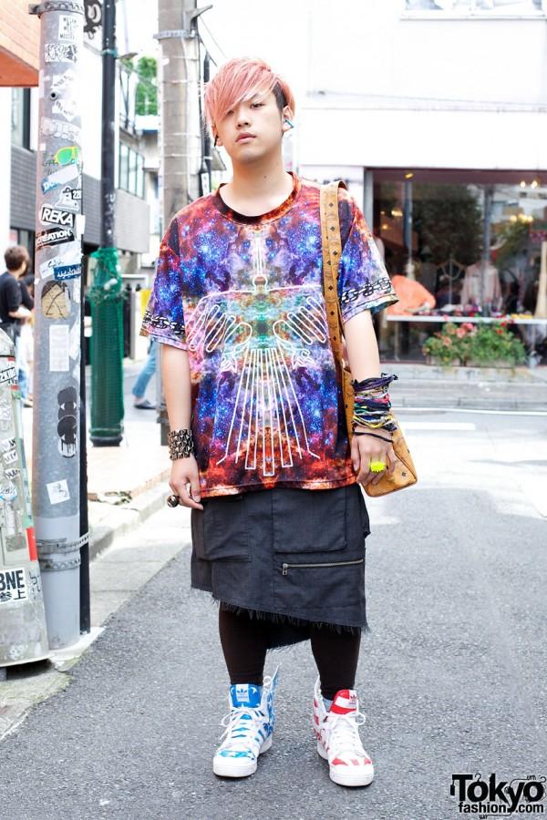 Popular Sperm Show Skirt & Jeremy Scott x Adidas Sneakers