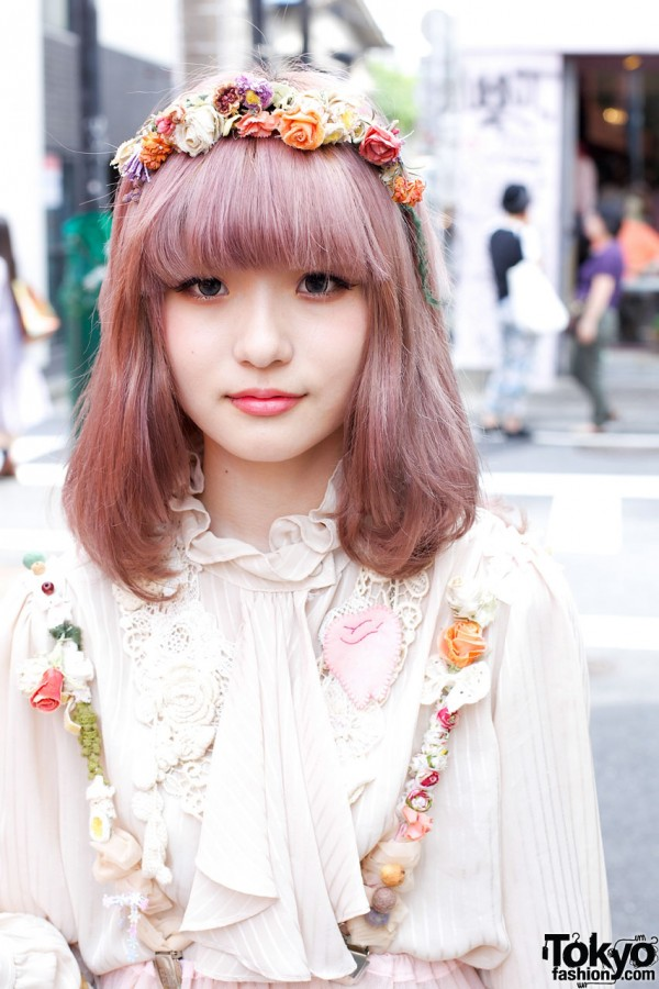 Dolly kei girl w/ lavender hair