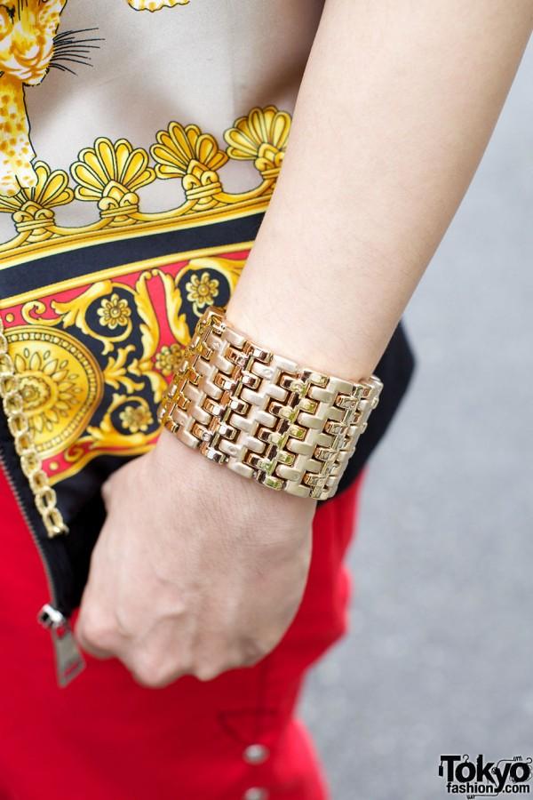 Gold Link Bracelet in Harajuku