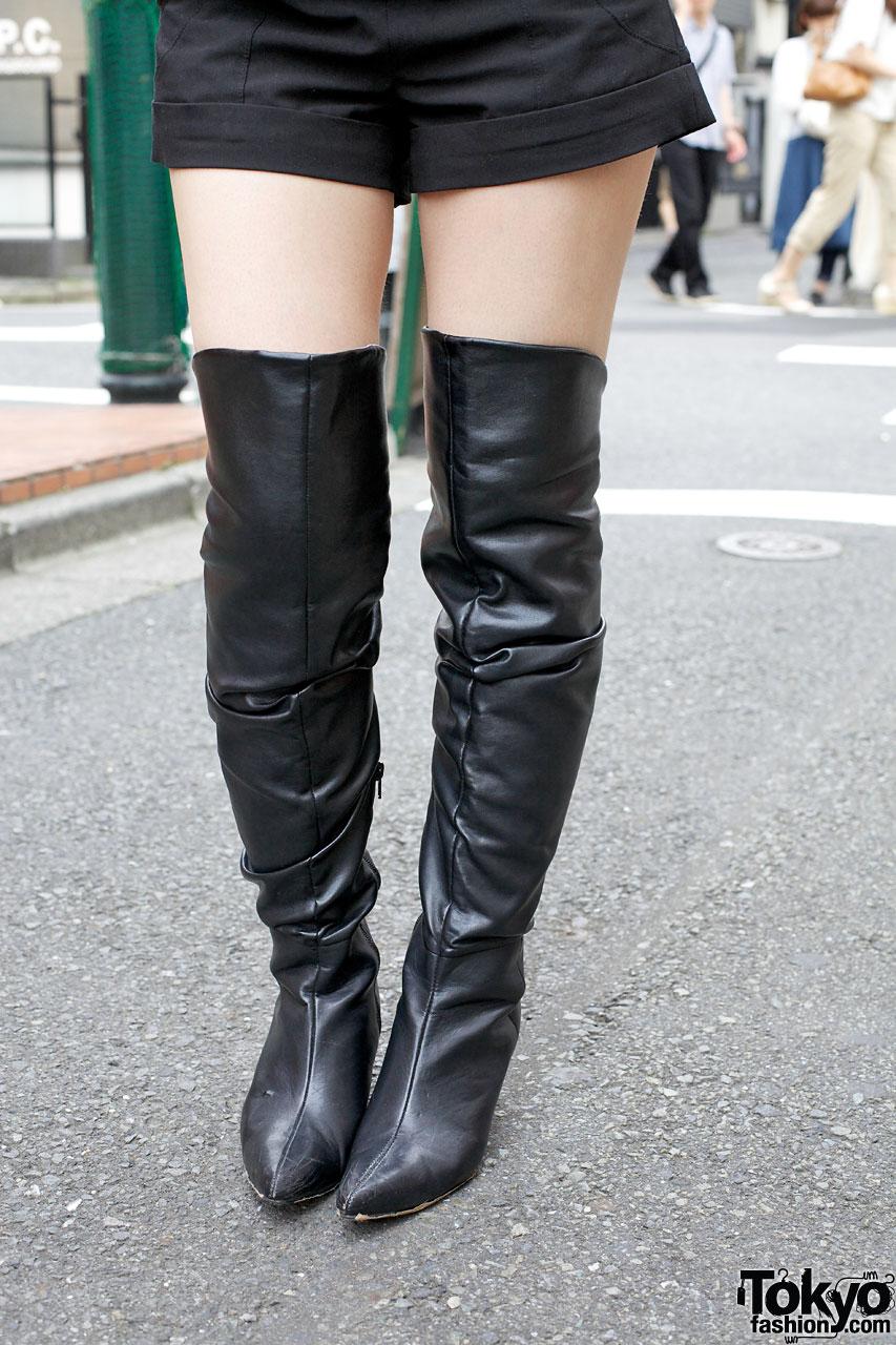 overtheknee leather boots � tokyo fashion news
