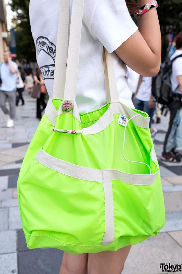 Neon Bag in Harajuku