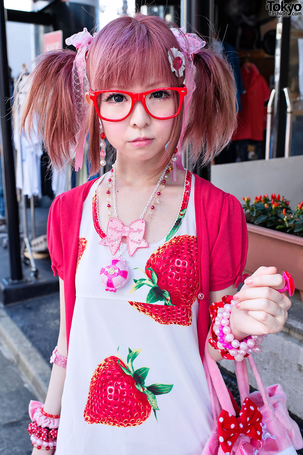 Moco In Harajuku W Super Cute Strawberry Themed Style My Melody