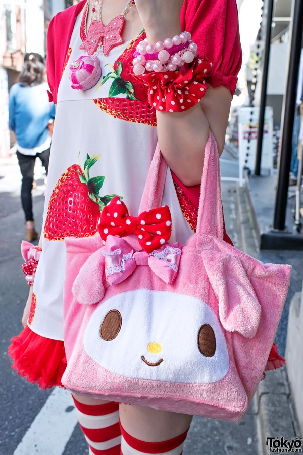 Cute My Melody Bag in Harajuku