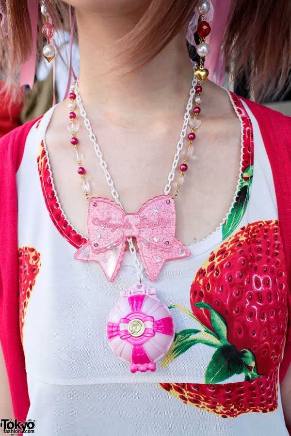Angelic Pretty Bow Necklace in Harajuku