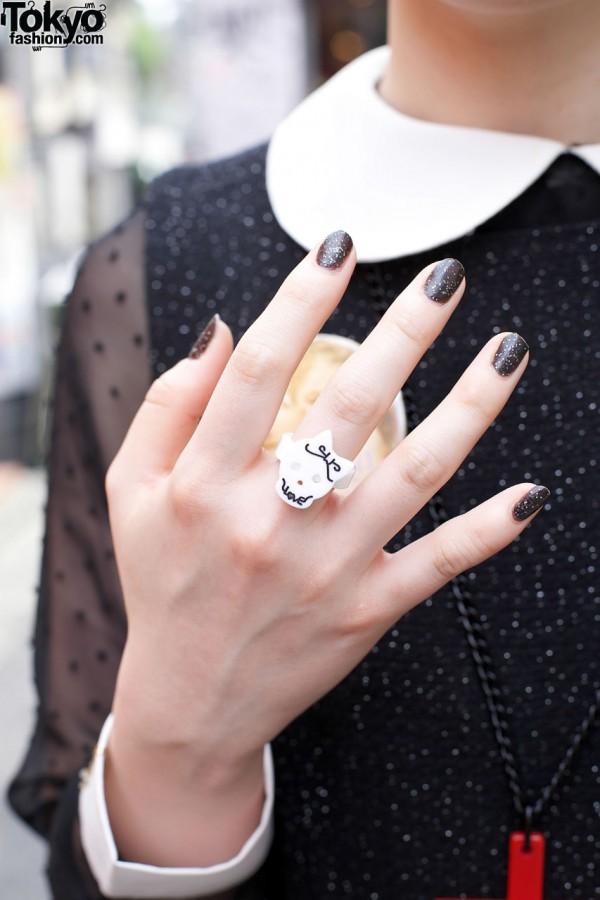 """Skull """"Love"""" ring"""