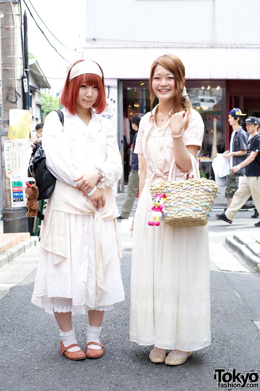 Girls in white outfits w/ Swimmer & Gelato Pique handbags