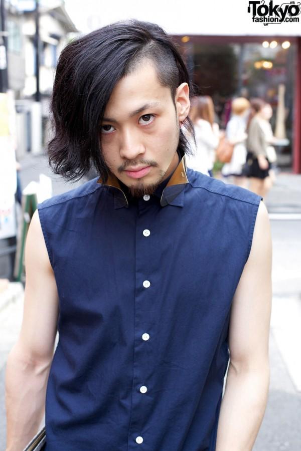 Harajuku guy's asymmetrical hair