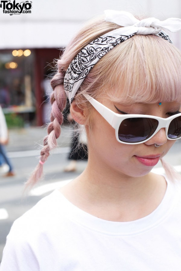 Pink Braids & Bindi in Harajuku