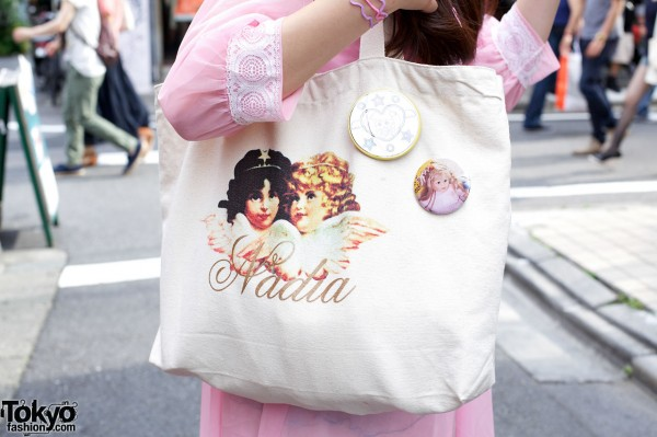 Nadia bag & nostalgic buttons