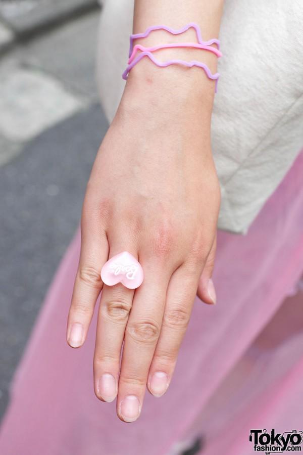 Barbie heart ring