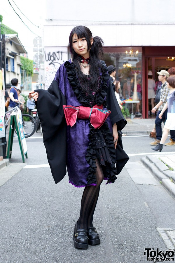 Kimono-inspired Gothic Harajuku Fashion