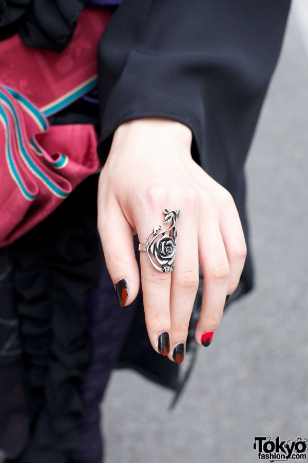 Silver Rose Ring from Claire's