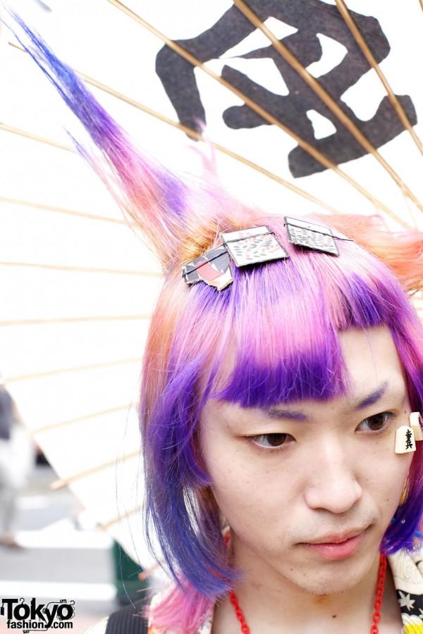 Maro's Pink & Purple Spiked Hair