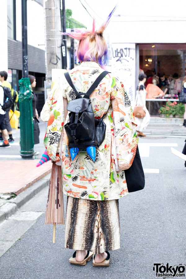 Harajuku Backpack With Large Spikes