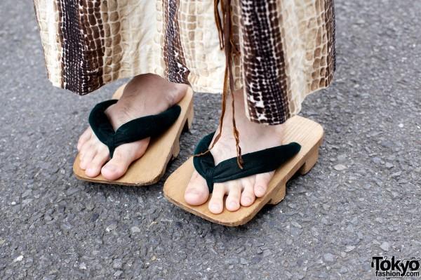 Traditional Japanese Geta Sandals
