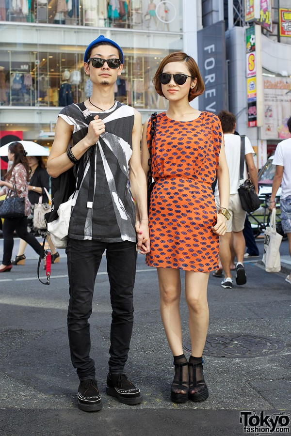 Girl's Sly dress & guy's Raf Simons tank top