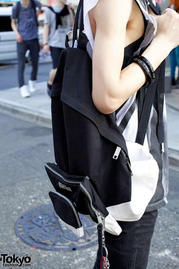 Backpack w/ snap-on pouches from Kris Van Assche