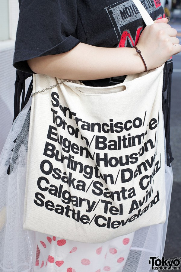 American Apparel tote bag