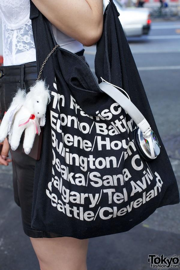 American Apparel Bag & Pegasus Charm
