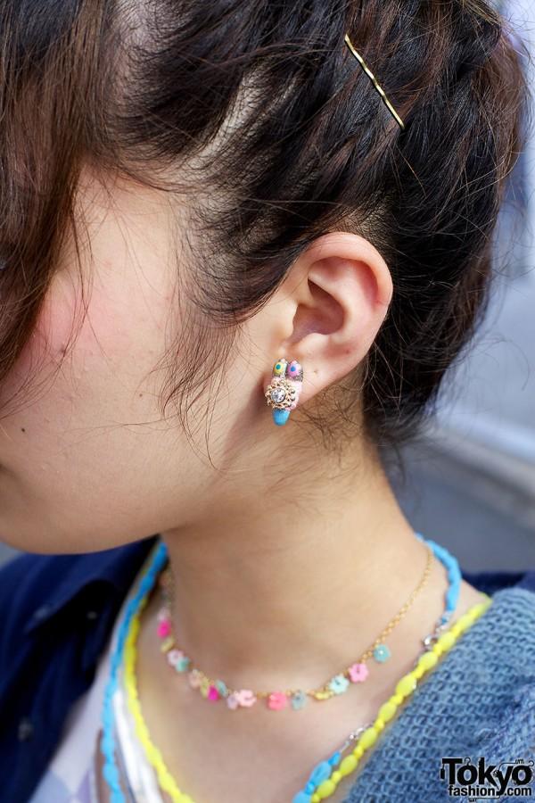 Colorful Earring in Harajuku