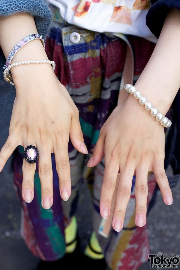 Vintage Ring & Pearls in Harajuku