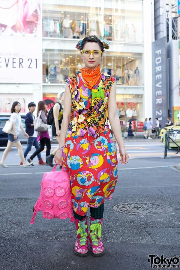Bunka Fashion College Student's Pink Boots & 6%DOKIDOKI in Harajuku