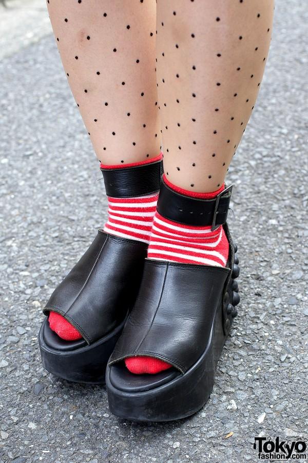 Striped Socks & Studded Tokyo Bopper