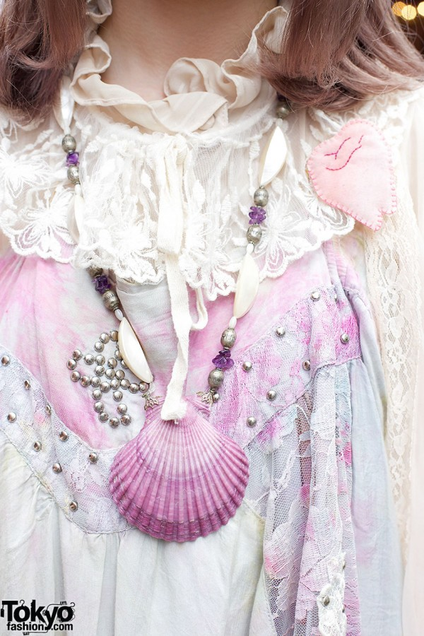 The Virgin Mary Seashell Necklace