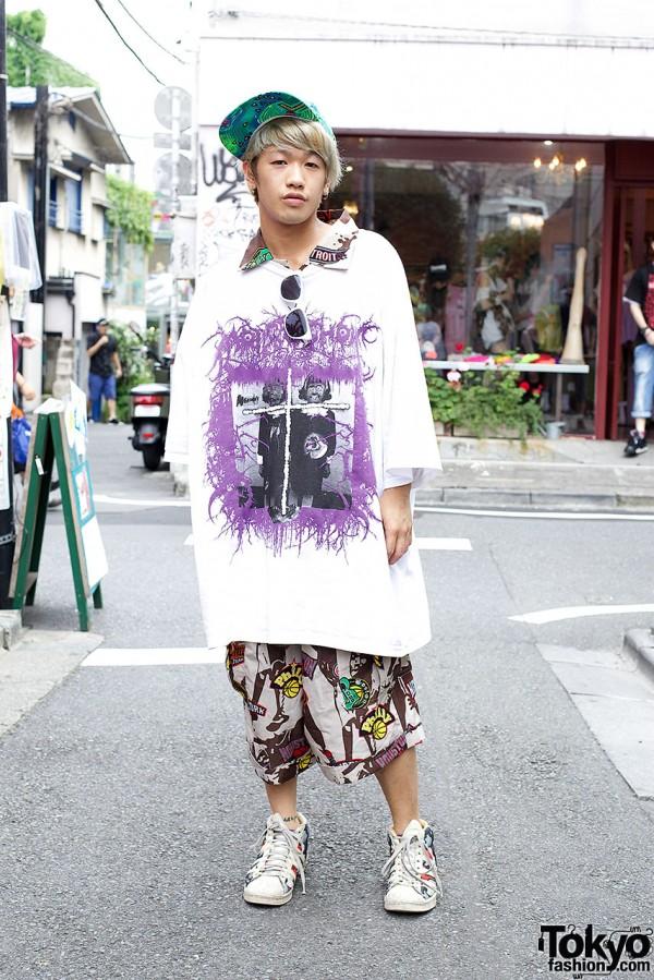 Hiro overshirt w/ Diane Arbus image