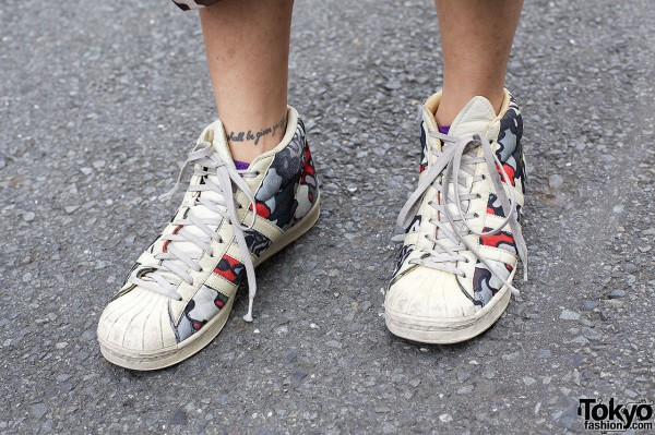 Adidas print sneakers