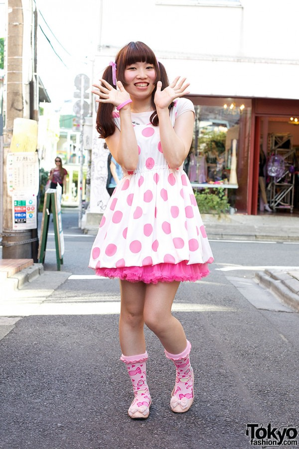 Momoiro Clover Z x Galaxxxy Dress & Candy Socks in Harajuku
