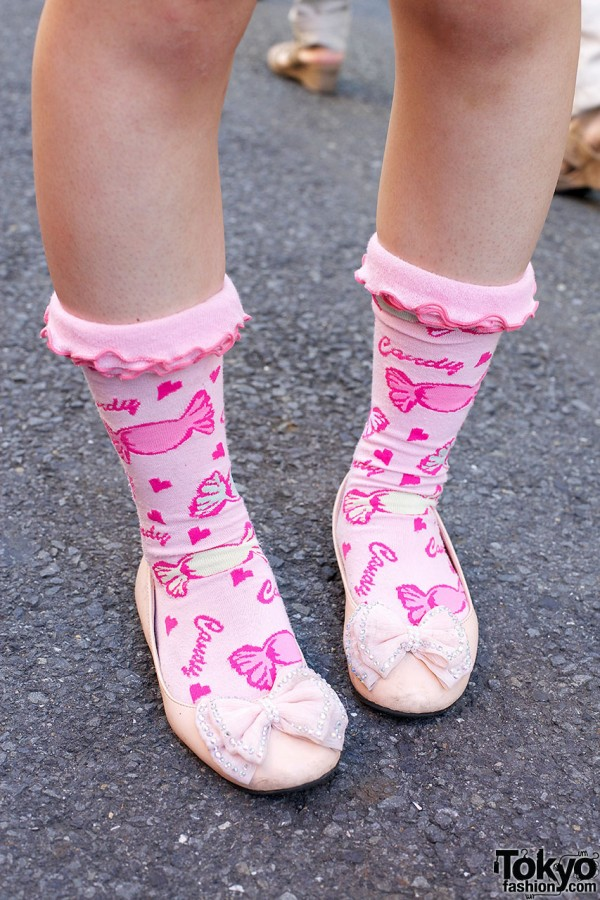 Candy Socks and F.i.n.t. Bow Shoes