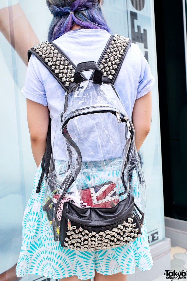 Clear Backpack with Studs