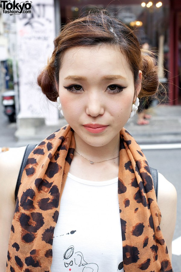 Animal print scarf & Emoda top