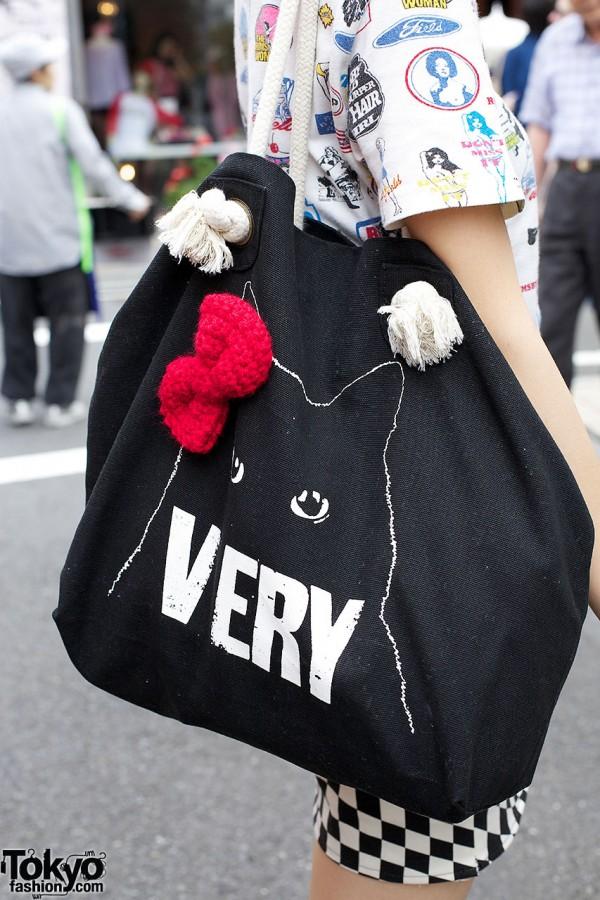 Kitty print Very tote bag