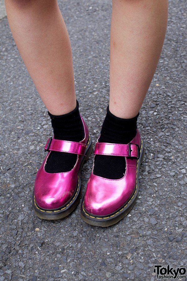 Fuchsia metallic Dr. Martens shoes
