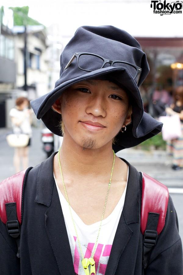 Oversized Hat & Glasses in Harajuku