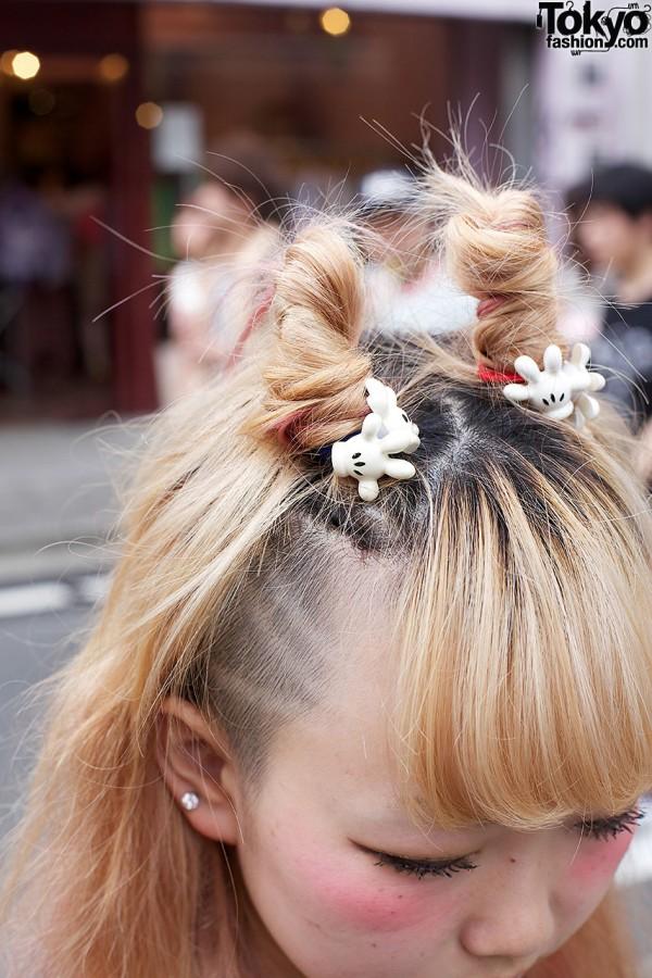 Mickey Mouse Hair Clips in Harajuku