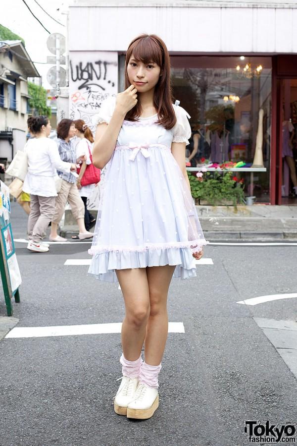 Cute Nile Perch Pastel Dress Ruffle Socks In Harajuku