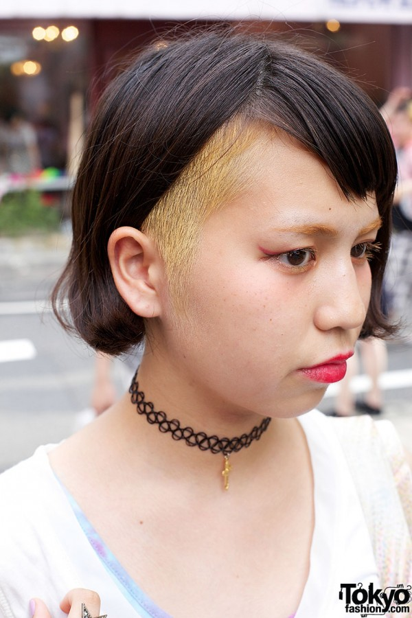 Shaved & Dyed Japanese Hairstyle