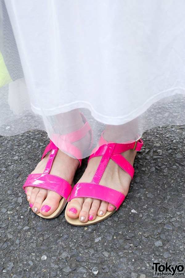 Pink sandals from Forever 21