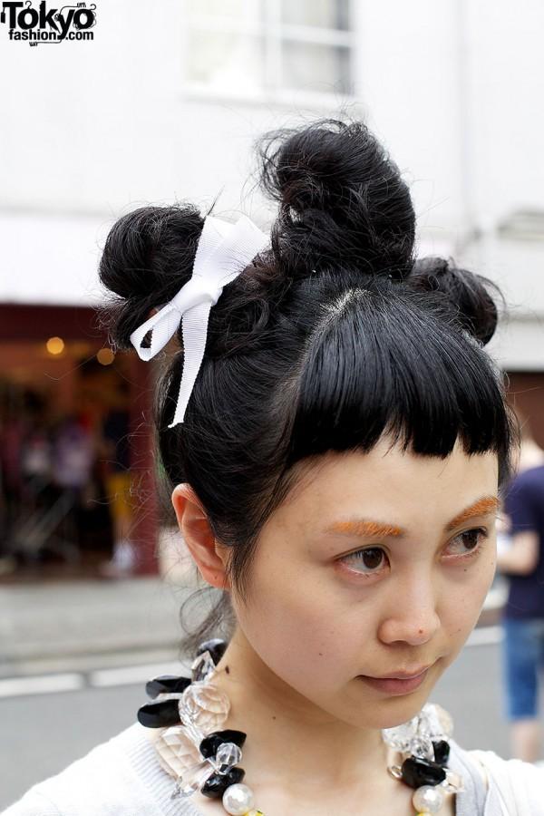 Triple Bun Hairstyle in Harajuku