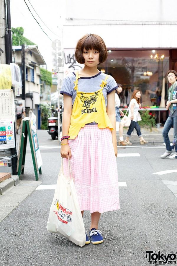 Resale & Remake Fashion, Bob Hairstyle & Snoopy Watch in Harajuku