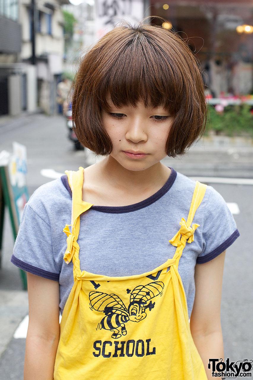Enjoyable Resale Amp Remake Fashion Bob Hairstyle Amp Snoopy Watch In Harajuku Hairstyles For Men Maxibearus