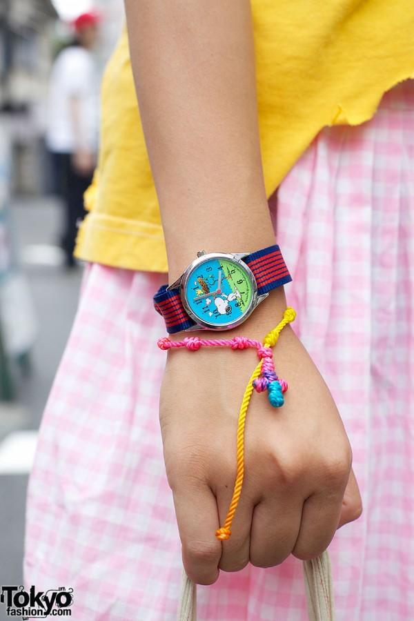 Snoopy Wristwatch & String Bracelet